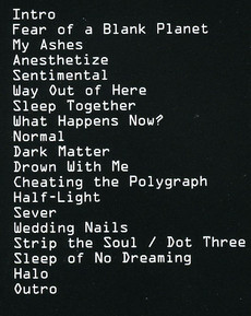 Anesthetizetracklist